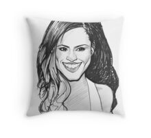 Caricature - Cheryl Cole Throw Pillow