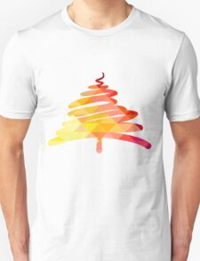 Christmas and New Year hand-painted decoration with Christmas tree T-Shirt