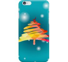 Christmas and New Year hand-painted decoration with Christmas tree iPhone Case/Skin