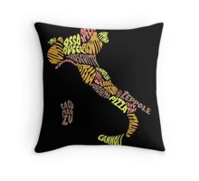Food Map - Italy Throw Pillow