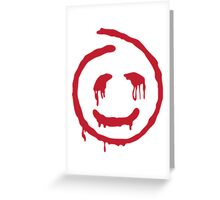 Red John smiley Greeting Card