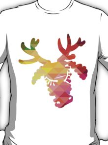 Christmas deer and New Year hand-painted decoration T-Shirt