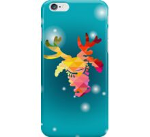 Christmas deer and New Year hand-painted decoration iPhone Case/Skin
