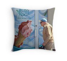 Man and Ice Cream, Westboro Ottawa Ontario Throw Pillow