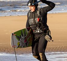 Kite Surfing - 1264 by Jennifer Moon