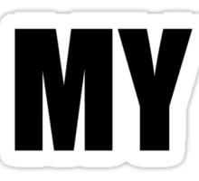 READ MY T-SHIRT BLACK Sticker
