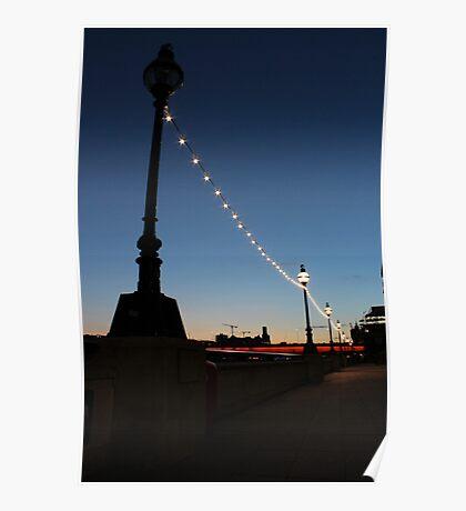River Thames at Night Poster