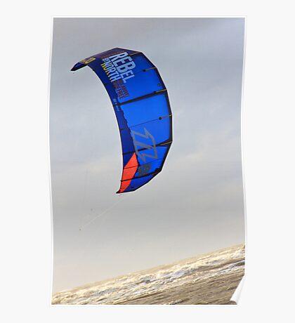 Kite Surfing - 1404 Poster
