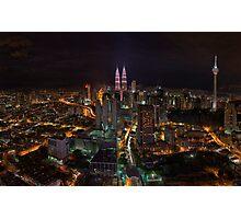 Kuala Lumpur Night Skyline Photographic Print