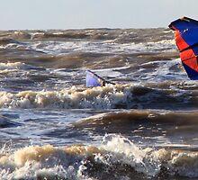 Kite Surfing - 1336e by Jennifer Moon
