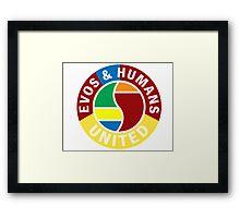 Evos and Humans United Framed Print