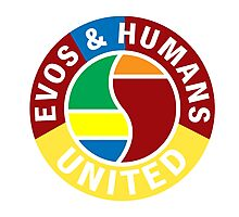 Evos and Humans United Photographic Print