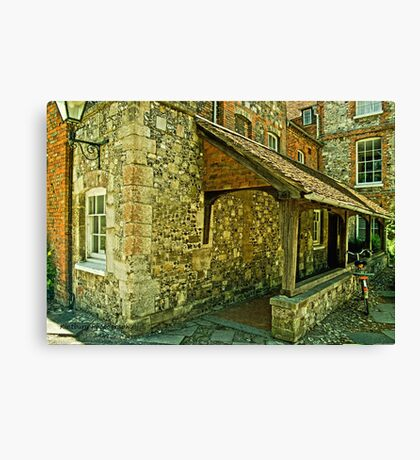 Flint building Canvas Print