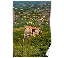 Springtime at the Holy Monastery of Rousanou, Meteora Poster