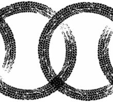 Audi logo marks white Sticker