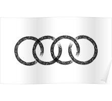 Audi logo marks white Poster