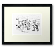 The Bus Stand Pegswood Framed Print