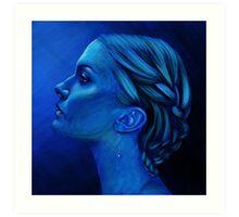 Blauw Art Print