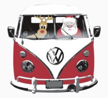 VW Camper Santa Father Christmas Red Kids Clothes