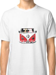 VW Camper Santa Father Christmas Red Classic T-Shirt