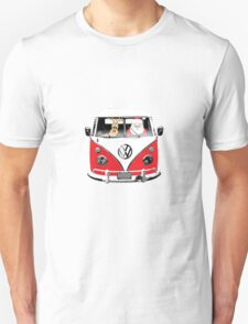 VW Camper Santa Father Christmas Red Unisex T-Shirt