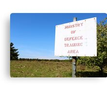 Ministry of Defence Training Area Canvas Print