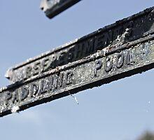 Paddling Pool Sign by Matt Keil