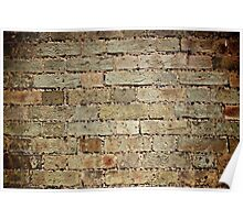 Brick Wall with Holes Poster