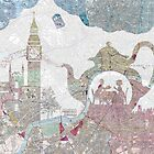4 o'clock tea London Map by BelleFlores