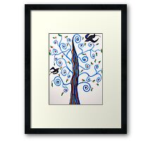 Swallows and the Orange Tree Framed Print