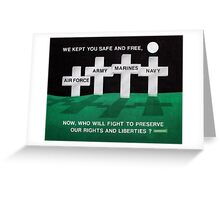 The Silent Military Speaks Greeting Card