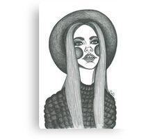 stylish boho fashion illustration  Canvas Print