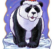 Panda Bear Christmas Card by Traci VanWagoner