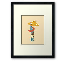 Cat with Tie Framed Print
