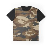 Green Brown Camouflage Graphic T-Shirt