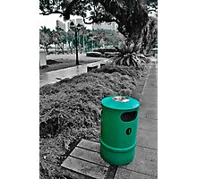 Green Trash Can  Photographic Print