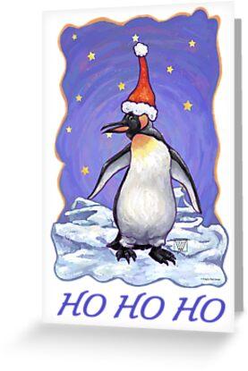 Penguin Christmas Card by ImagineThatNYC