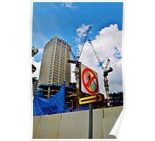 No Pedestrians Poster