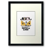 VW Camper Santa Father Christmas On Way Orange Framed Print