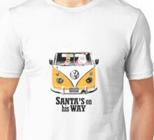 VW Camper Santa Father Christmas On Way Orange Unisex T-Shirt