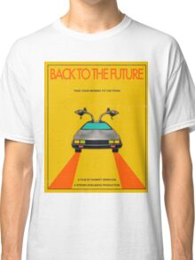 Back To The Future Movie Poster - Yellow Classic T-Shirt