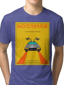 Back To The Future Movie Poster - Yellow Tri-blend T-Shirt