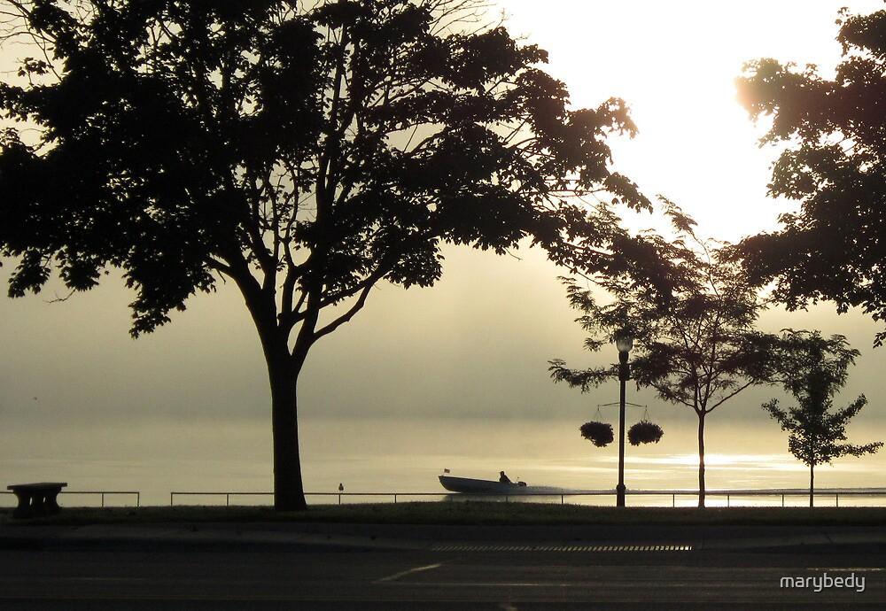 St. Clair Sunrise with Fog by marybedy