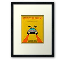 Back To The Future Movie Poster - Yellow Framed Print