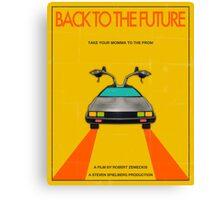 Back To The Future Movie Poster - Yellow Canvas Print