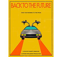 Back To The Future Movie Poster - Yellow Photographic Print