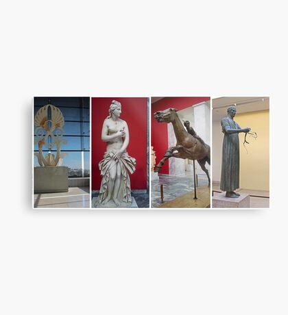 Ancient Greek Statues. Metal Print