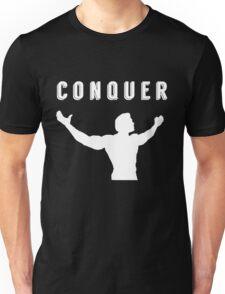 arnold schwarzenegger gym t-shirt conquer Unisex T-Shirt