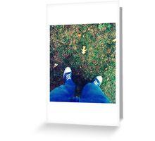 Chuck's Leaf Greeting Card