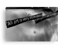 The truth about art. Canvas Print
